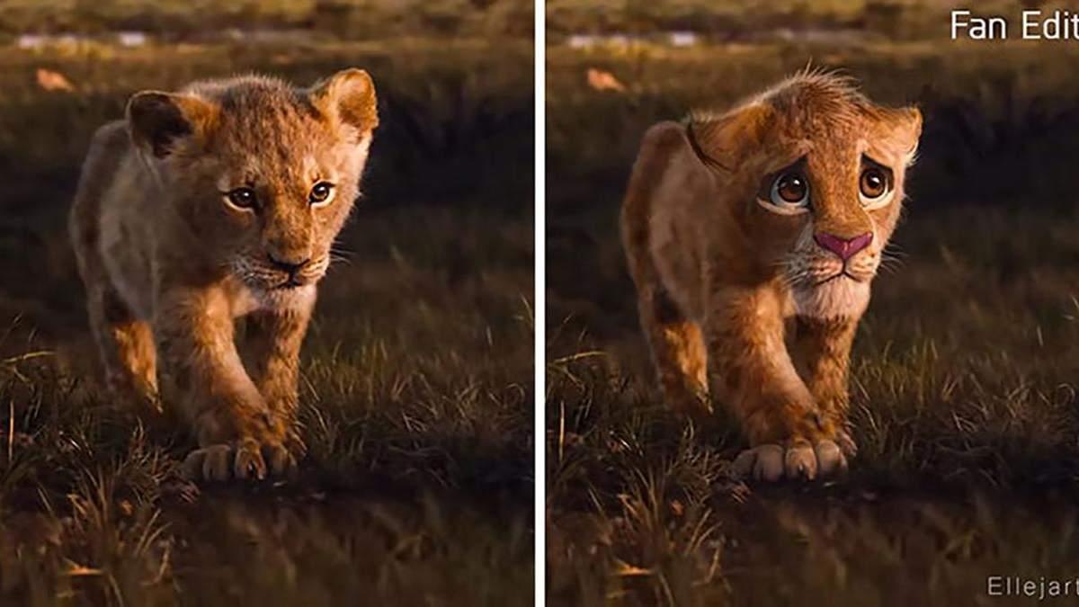 """Больше эмоций: фанаты добавили реалистичности героям """"Король Лев"""" как из оригинального мультика"""
