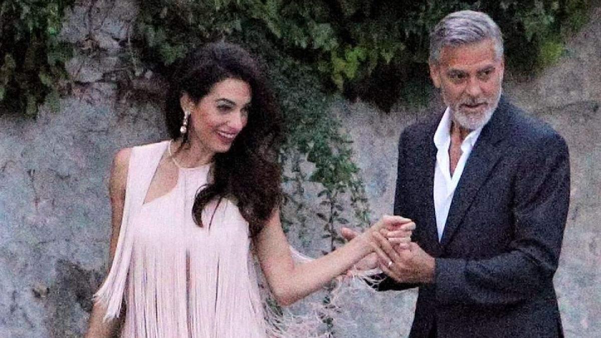 Амаль и Джордж Клуни в Италии