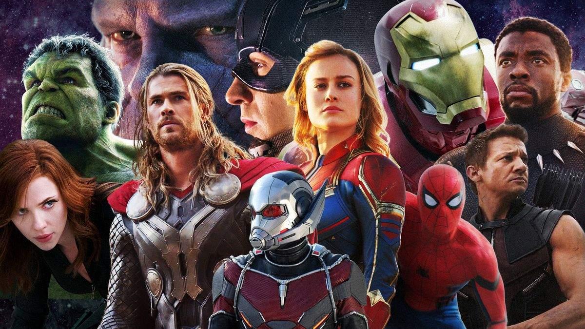 Персонажі з фільмів від Marvel