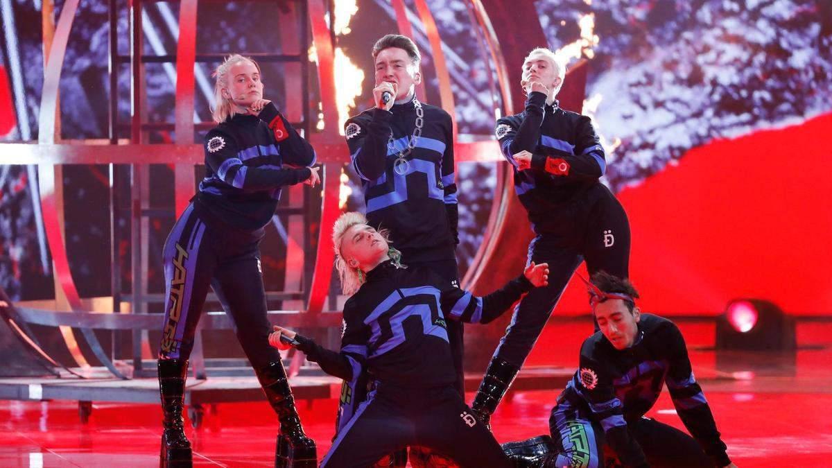 Группа Hatari на Евровидении-2019