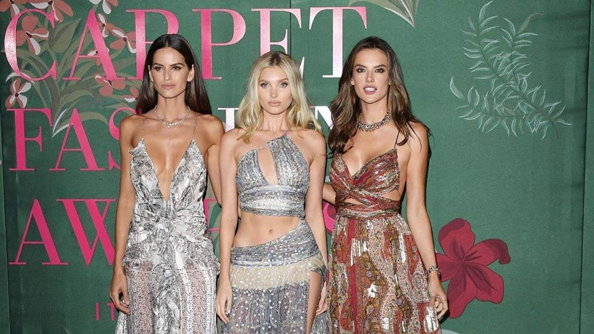 Моделі на церемонії Green Carpet Fashion Awards