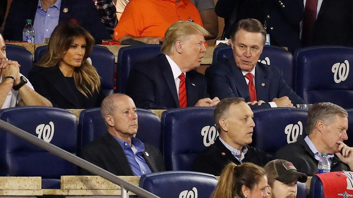 Меланія Трамп на бейсбольному матчі