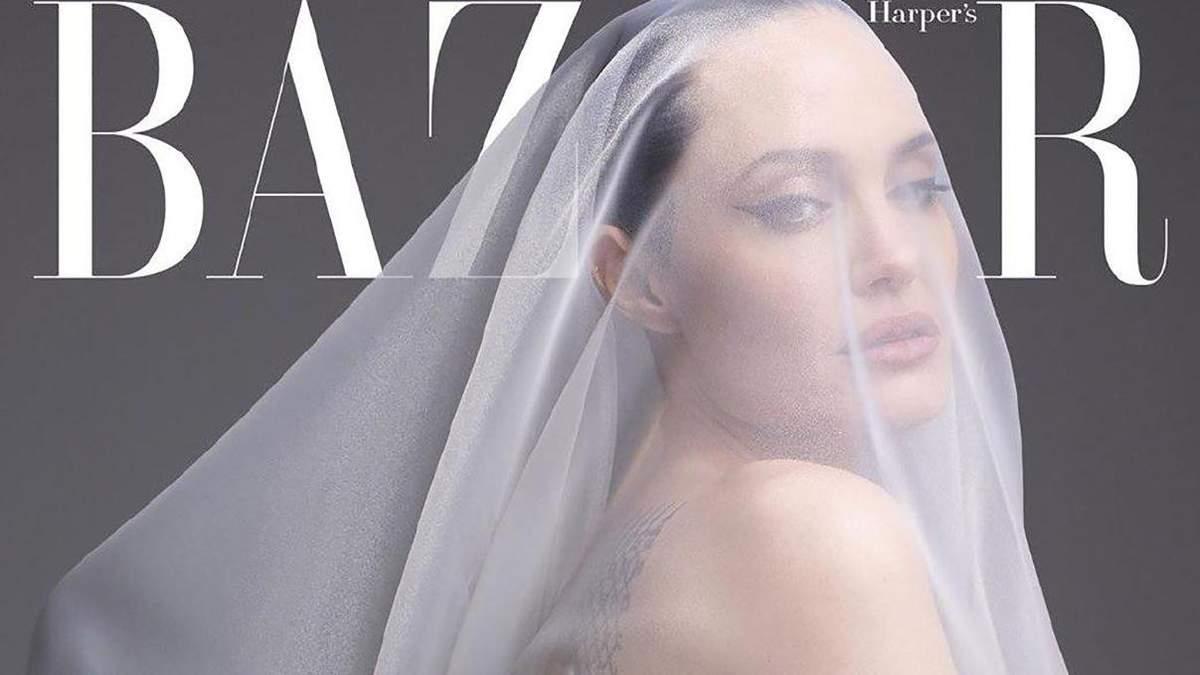 Прикрилася тонким тюлем: Анджеліна Джолі повністю оголилася для обкладинки журналу (18+)