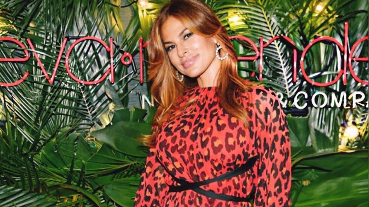 Єва Мендес на презентації власної колекції одягу