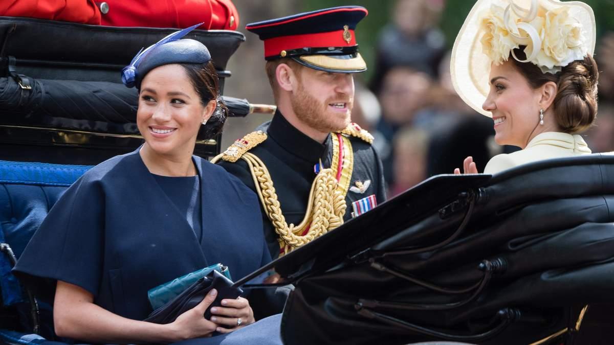 Принц Гарри и Меган Маркл на праздновании дня рождения Елизаветы II