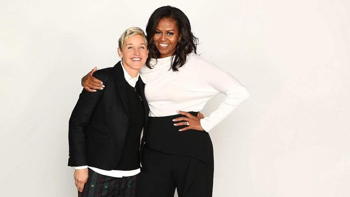 Мішель Обама та Еллен Дедженерес