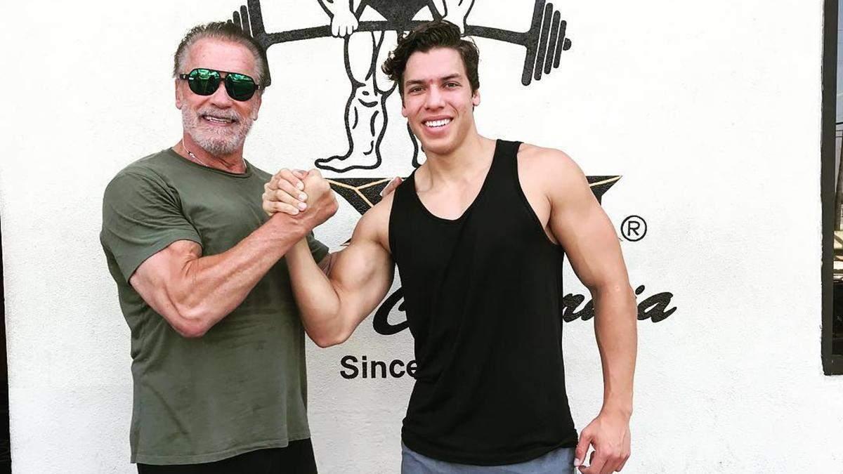 Арнольд Шварценеггер с сыном