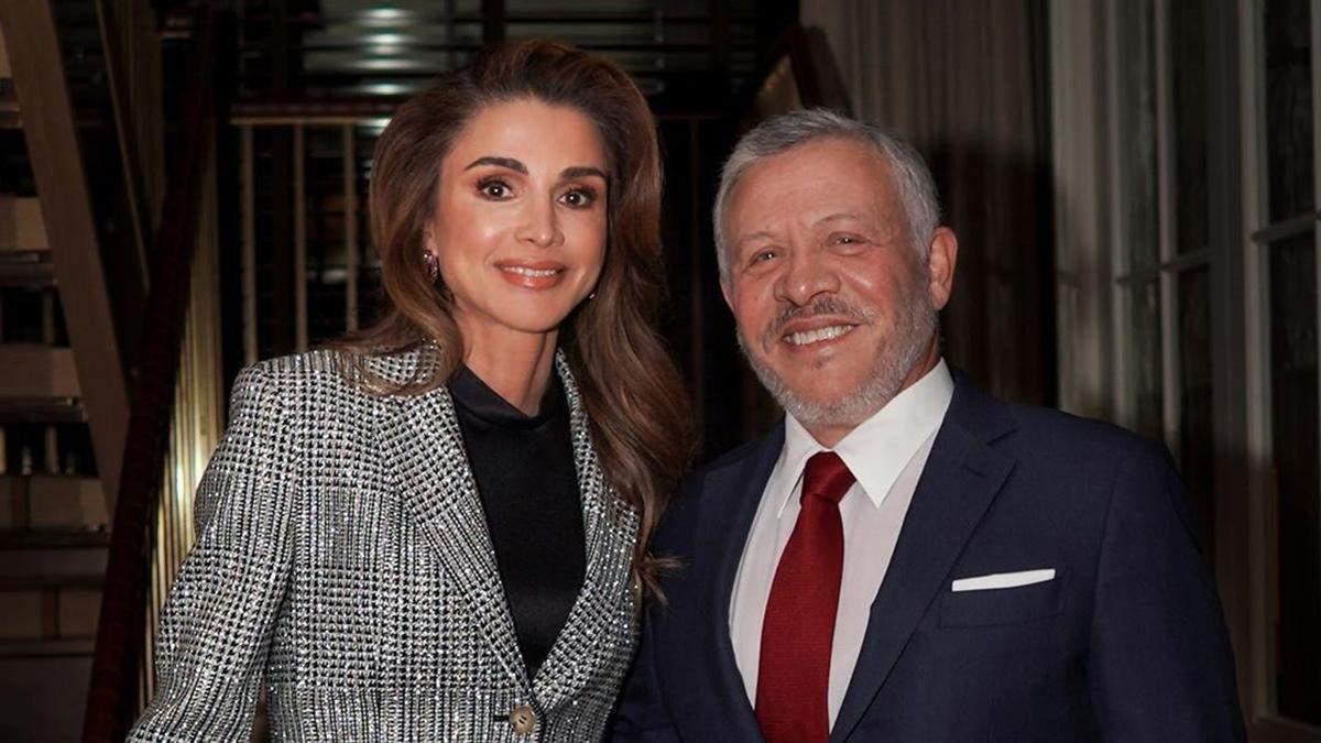 Королева Иордании Рания с Абдаллой II