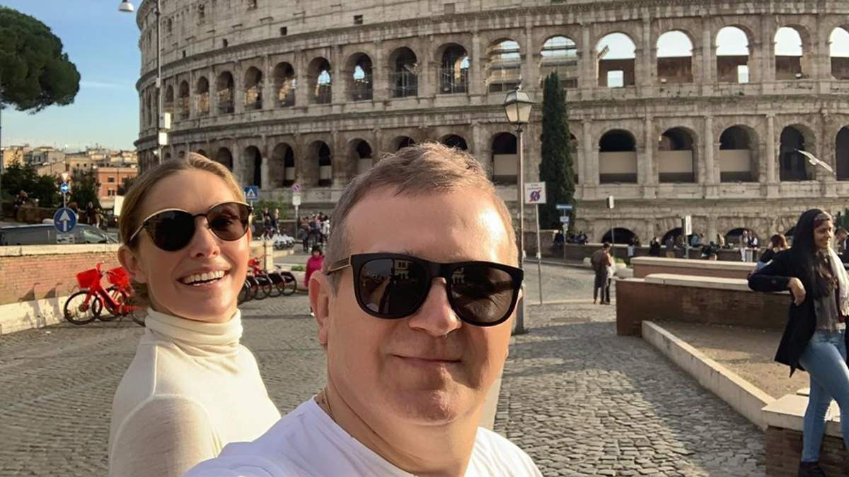 Катерина Осадча і Юрій Горбунов у Римі