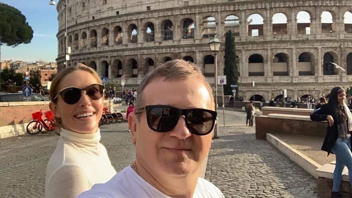 Екатерина Осадчая и Юрий Горбунов в Риме