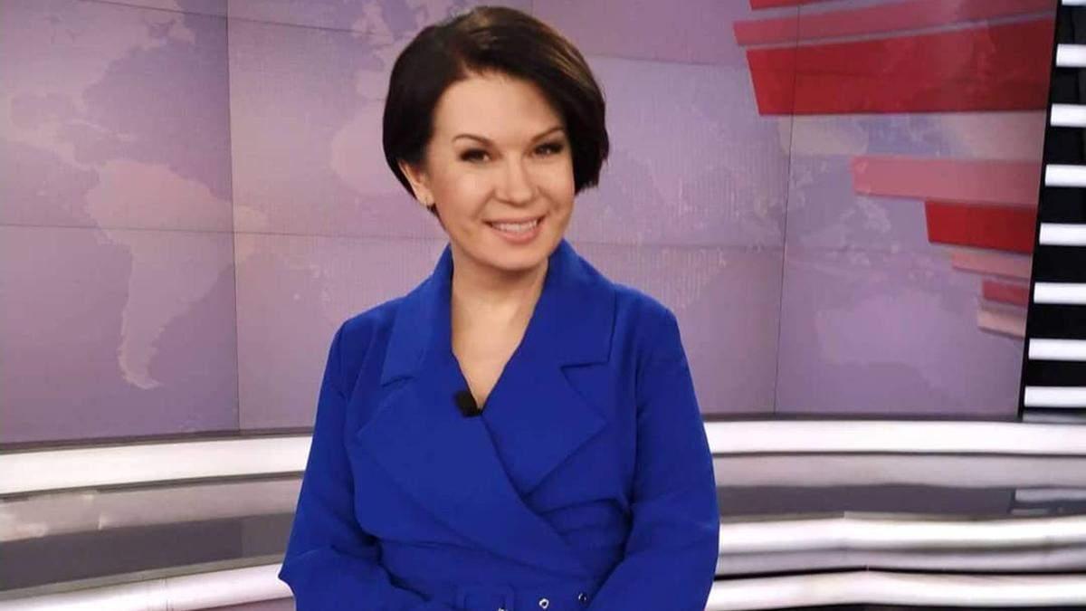 Телеведущая Алла Мазур