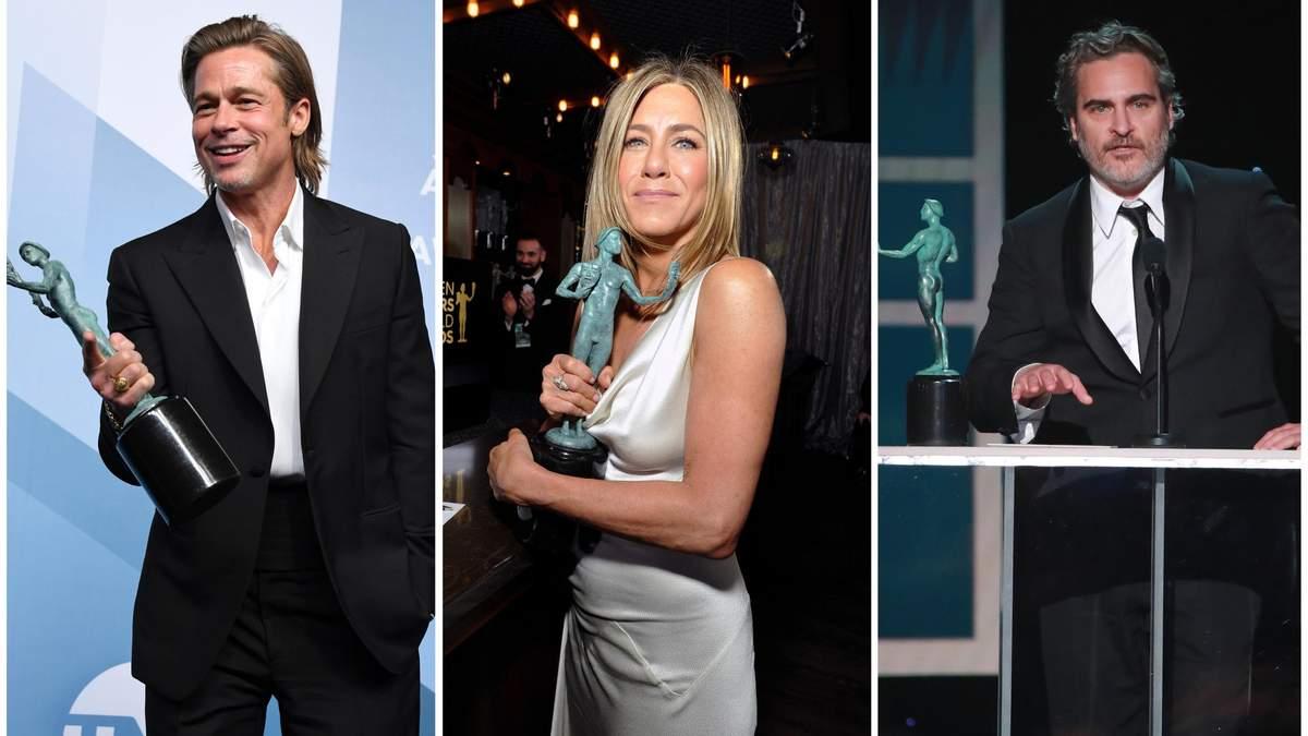 Хоакин Феникс, Брэд Питт, Дженнифер Энистон и другие: полный список победителей SAG Awards 2020