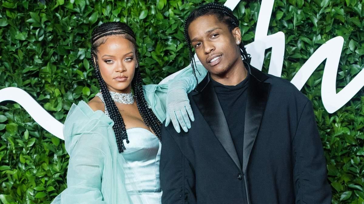 Рианна и A$AP Rocky на The Fashion Awards 2019