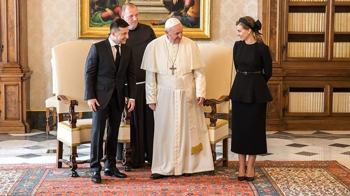 Елена Зеленская с официальным визитом в Ватикане