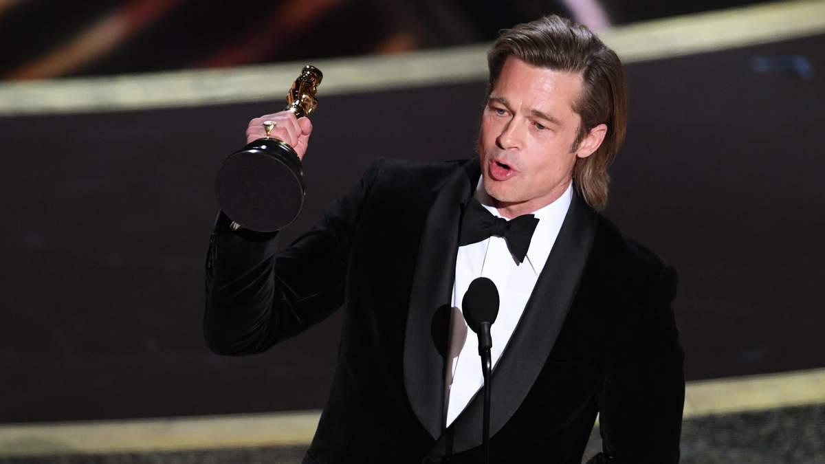 Брэд Питт на Оскар 2020 – фото и видео вручения Оскар