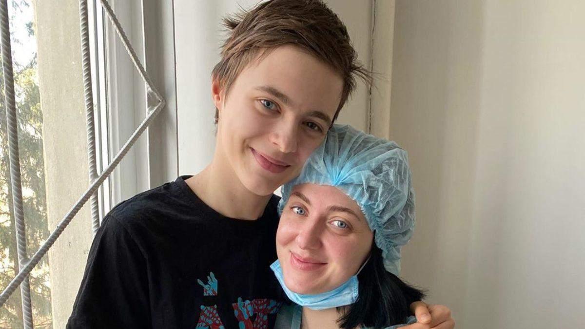 Сніжана Бабкіна з сином Артуром