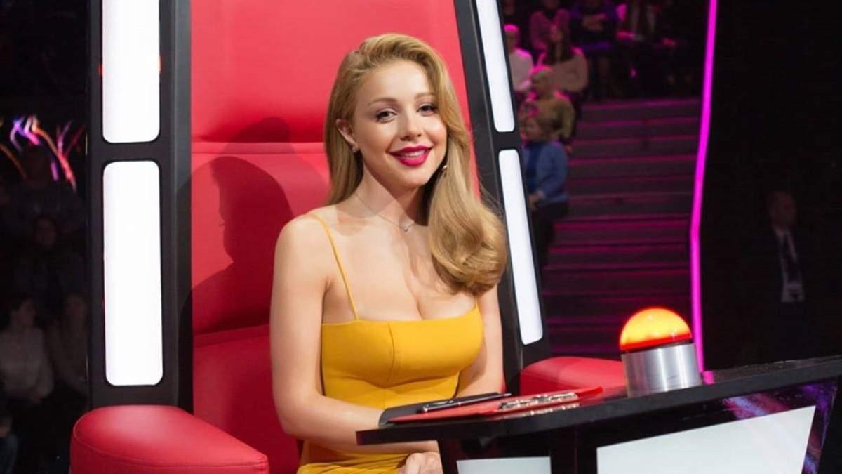 В роскошном желтом платье: Тина Кароль поразила стройной фигурой на шоу