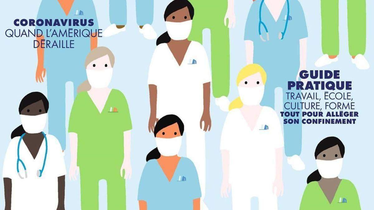 Французский Elle выпустил специальный номер, посвященный врачам, которые борются с коронавирусом