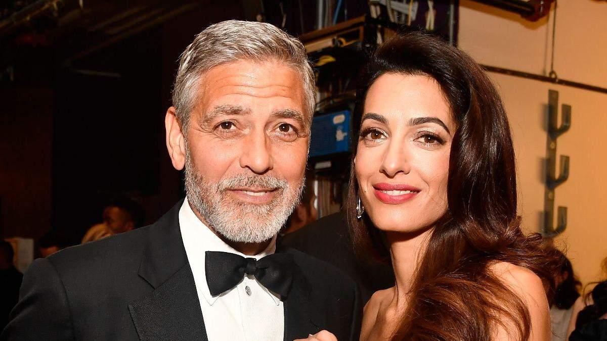 Джордж Клуні з дружиною