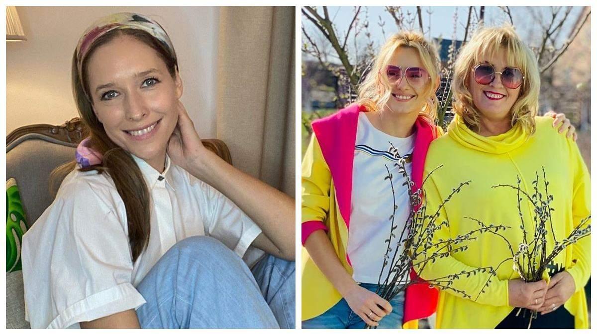 Катя Осадчая и Ирина Федишин празднуют Вербное воскресенье дома