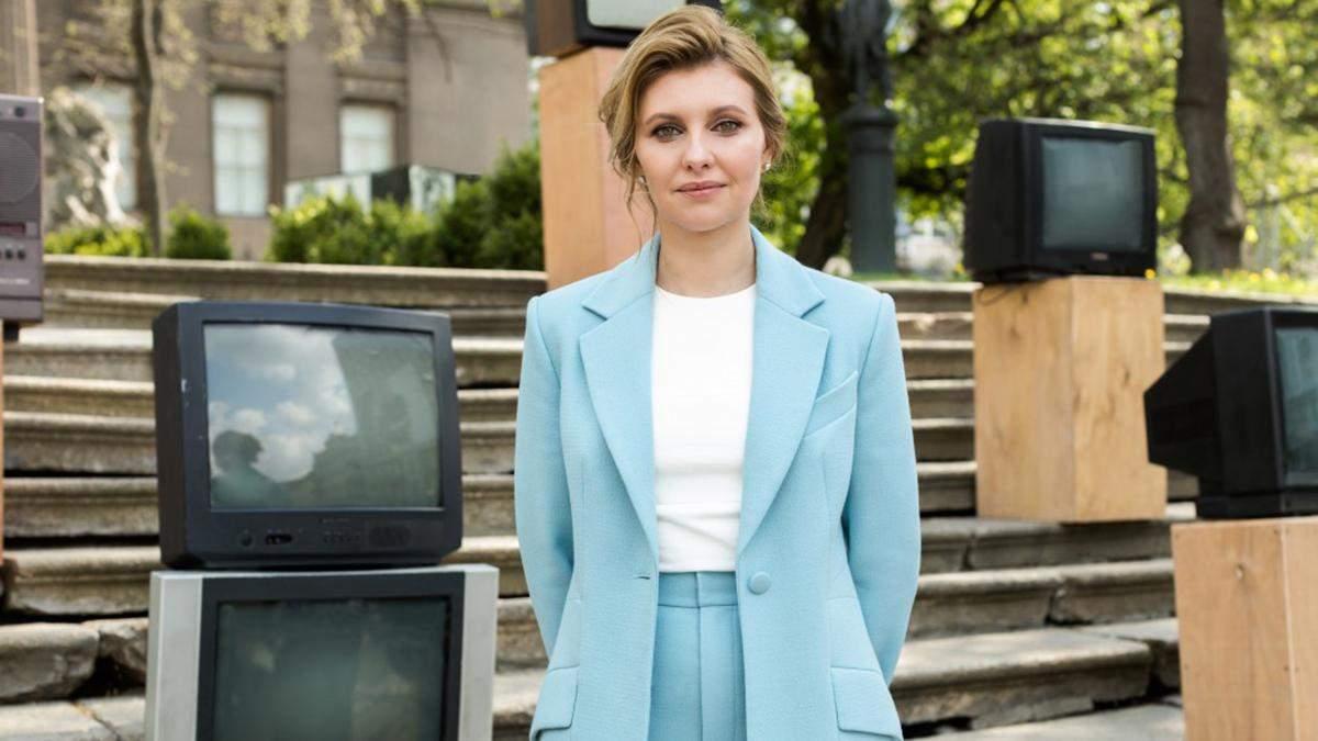 """Перша леді Олена Зеленська розпочала з українцями """"розмову про бар'єри"""": відео"""