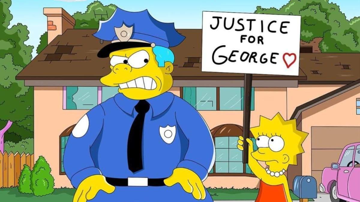 """У """"Сімпсонах"""" передбачили смерть Джорджа Флойда: правда чи фейк"""