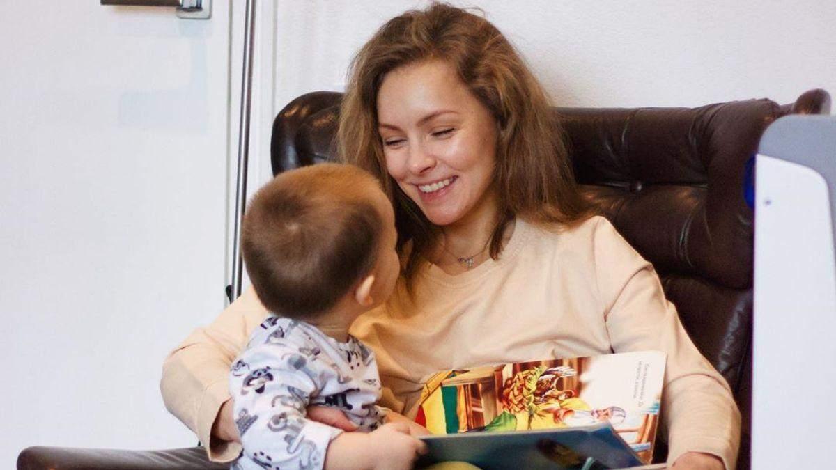 Олена Шоптенко з сином