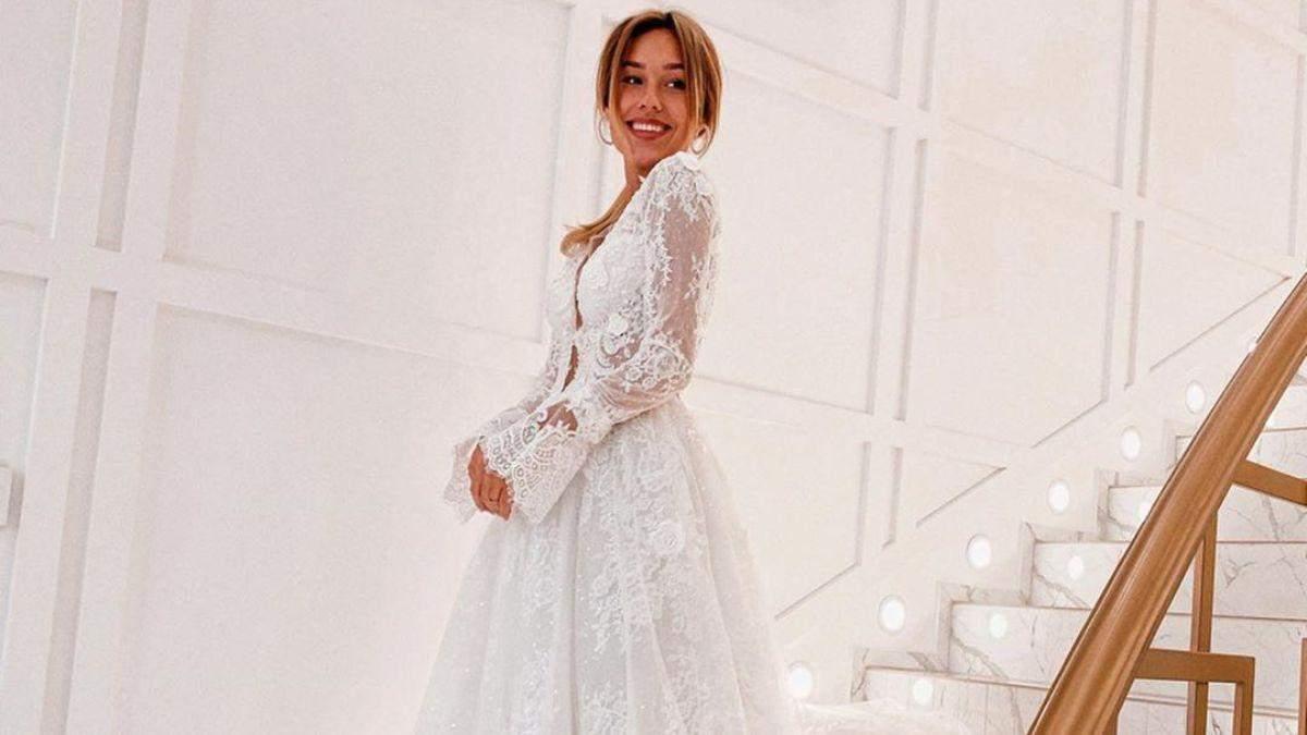 Даша Квіткова у весільній сукні