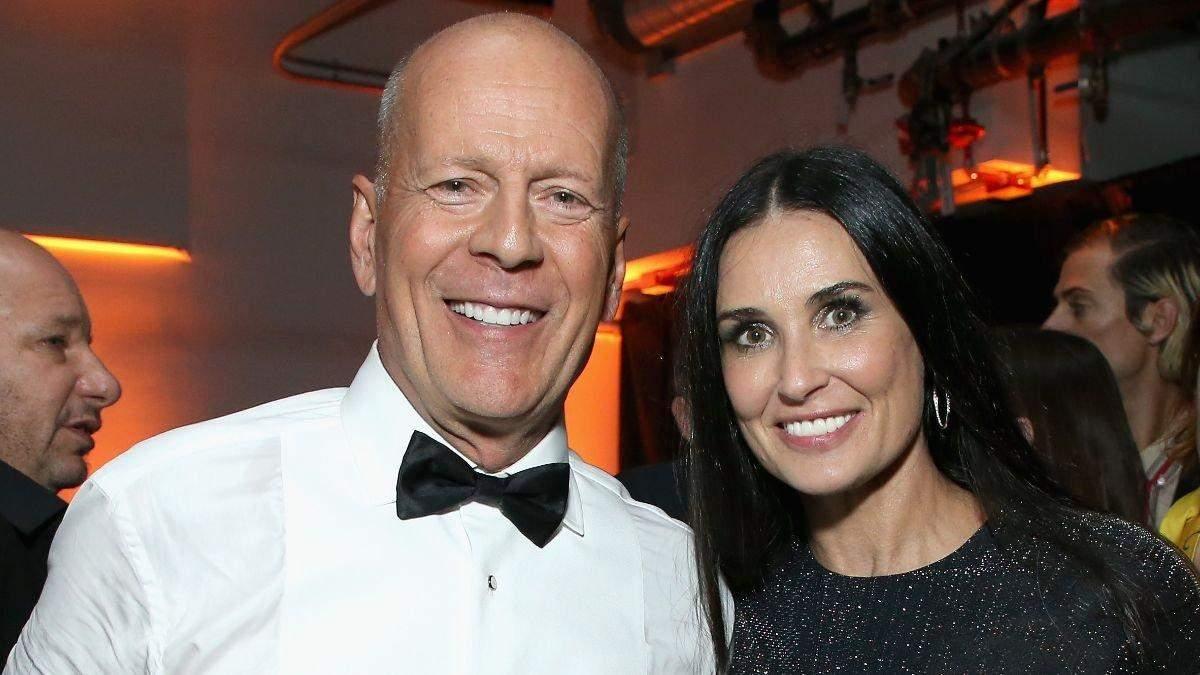 Брюс Вілліс запросив колишню Демі Мур на день народження дружини: фото