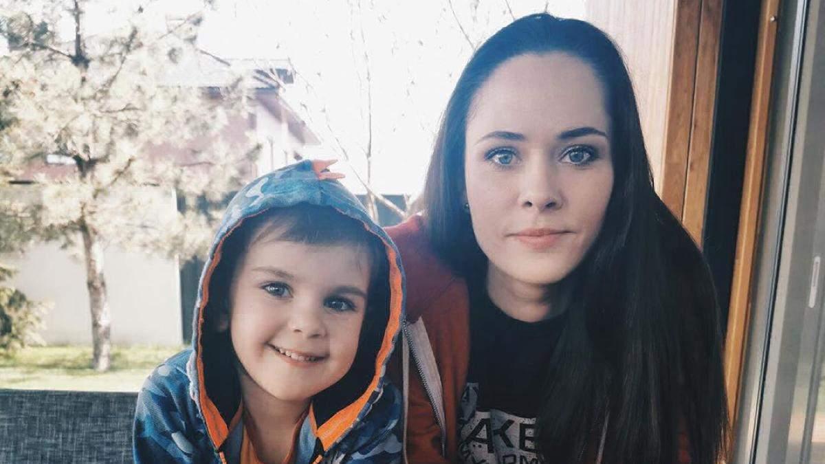 Юлия Санина с сыном Даниилом
