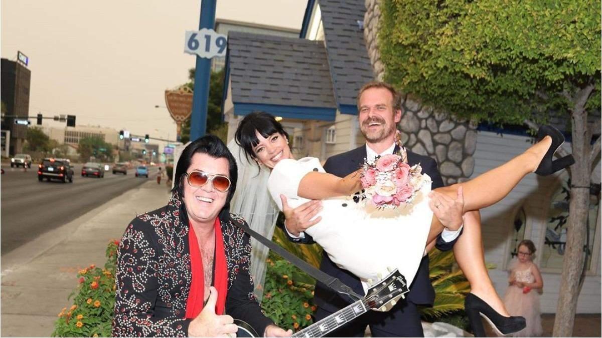 Лили Аллен и Дэвид Харбор поженились: первые фото