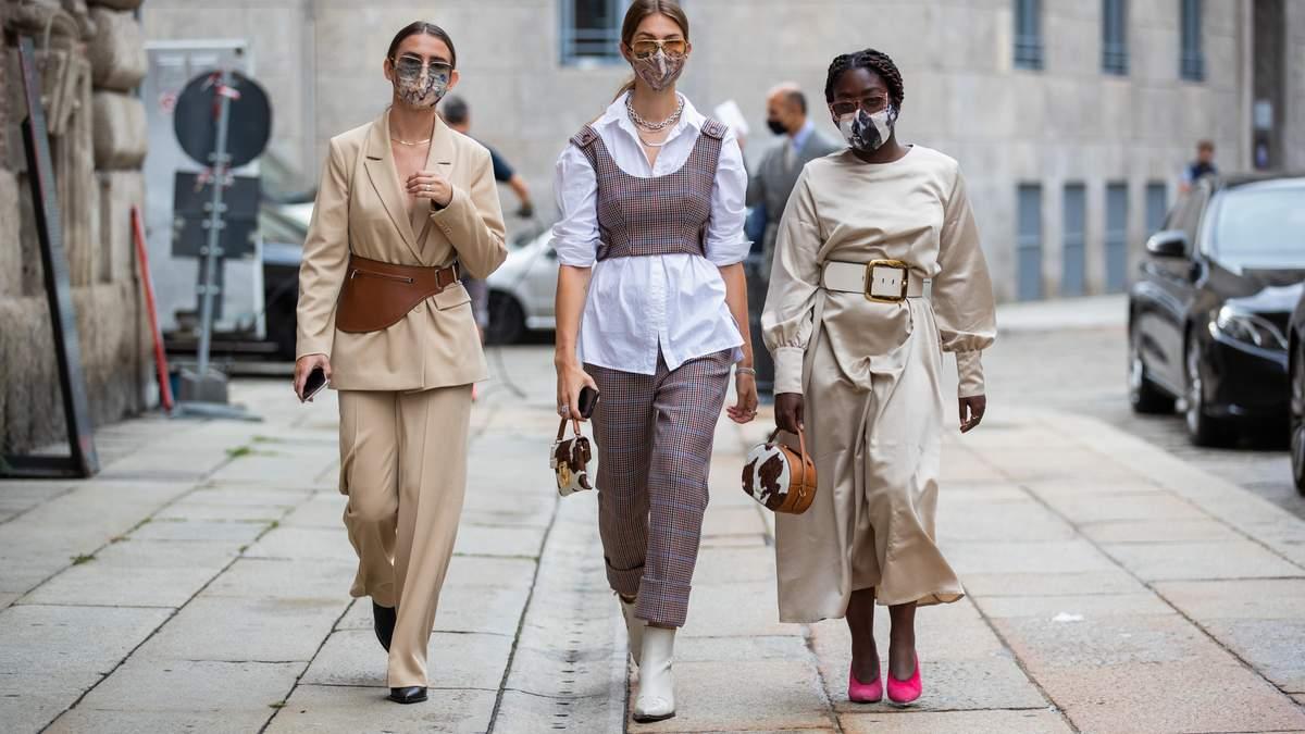Фэшн-карантин: какие маски надевают гости Недель моды в Европе – фото