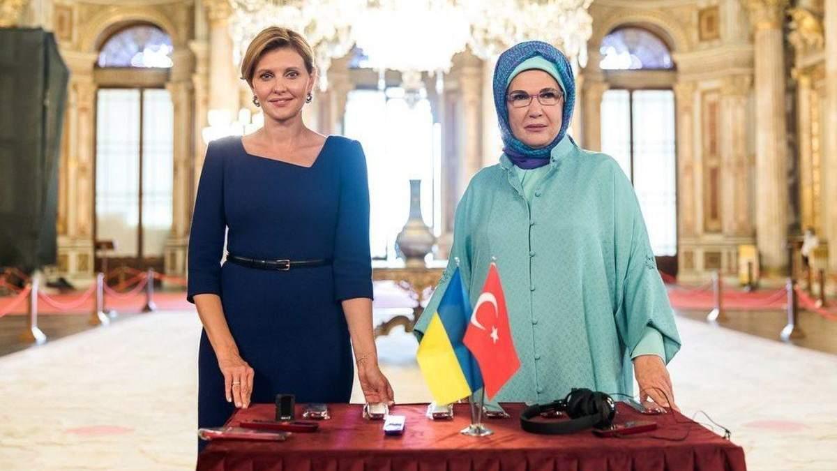 В безупречном образе: Елена Зеленская встретилась с женщинами – послами иностранных государств