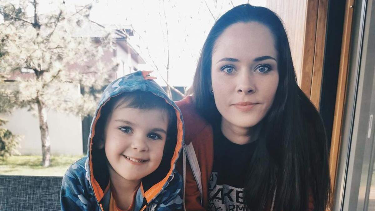 Юлія Саніна з сином