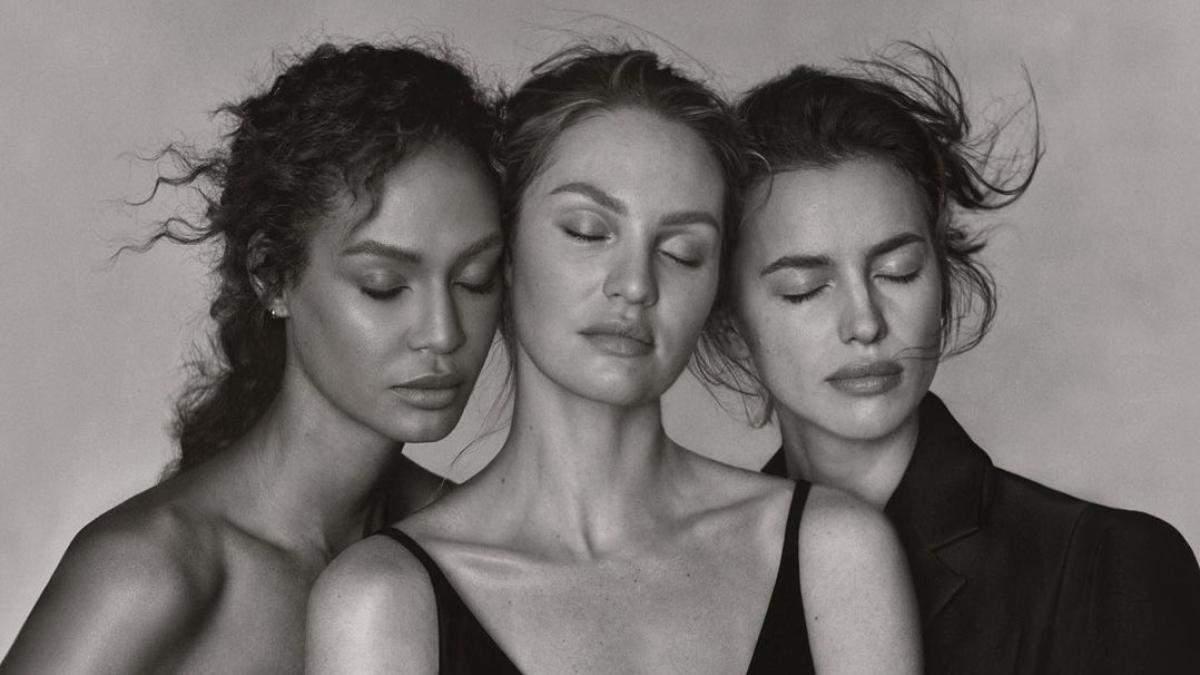 Ирина Шейк, Кэндис Сванепул и Джоан Смоллс для Vogue Greece