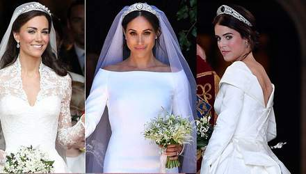 Кейт, Меган чи Євгенія: чия весільна сукня краща – опитування