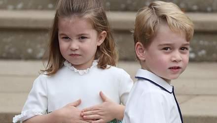 Принц Джордж і принцеса Шарлотта стали маленькими зірками на королівському весіллі