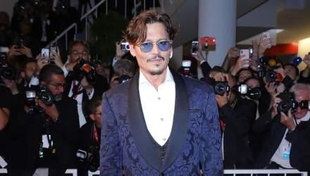 Рідкісний вихід: Джонні Депп з'явився на Венеційському кінофестивалі