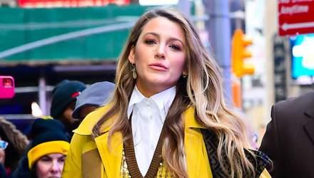 Икона стиля Блейк Лайвли на улицах Нью-Йорка демонстрирует тренды сезона