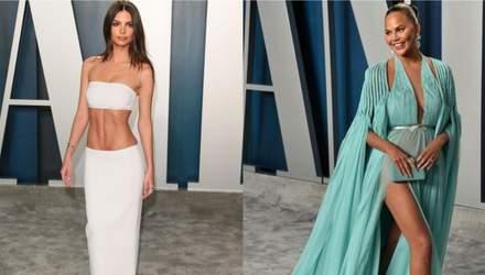 Прозорі сукні та провокативні декольте: які зірки відзначились на вечірці Vanity Fair