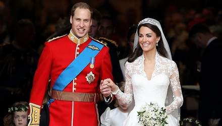 9 річниця шлюбу Кейт Міддлтон і принца Вільяма: архівні фото весілля