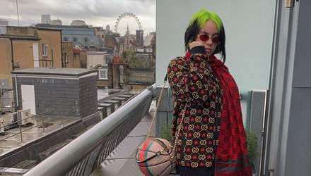 Полностью в Gucci: Билли Айлиш опубликовала фото впервые за 4 недели и поразила фанатов образом
