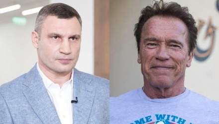 Арнольд Шварценеггер поздравил Виталия Кличко с результатами выборов