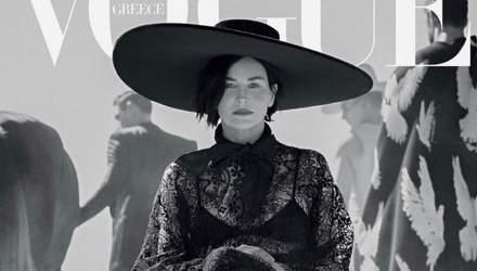 У стилі дикого вестерну: Шерон Стоун приміряла капелюх від українського дизайнера