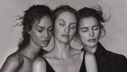 Волшебное трио: Ирина Шейк, Кэндис Сванепул и Джоан Смоллс украсили обложку Vogue