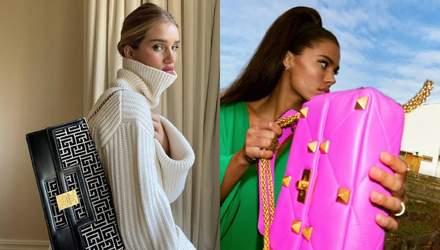 Balmain, Louis Vuitton і Chanel: які сумки носять Ельза Госк, Кайлі Дженнер та інші знаменитості
