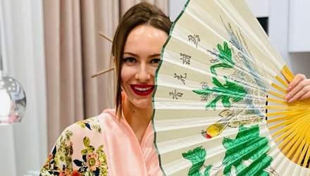 В образе гейши: жена Остапчука Кристина Горняк поделилась невероятными снимками