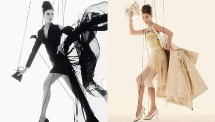 Ірина Шейк та Белла Хадід знялися в образі маріонеток для нової кампанії Moschino