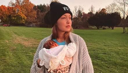 Джиджи Хадид сделала символическое тату в честь дочери Хаи: фото