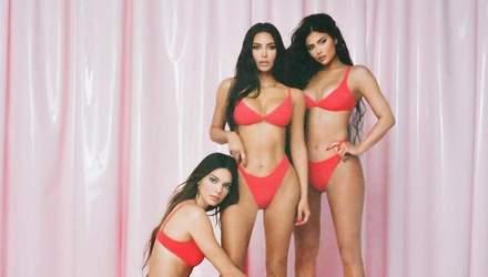 Сестры Кардашян-Дженнер снялись в откровенных красных бикини: провокационные фото и видео 18+
